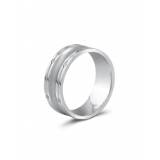 Eleta Channel Women's Wedding Ring 18K White Gold