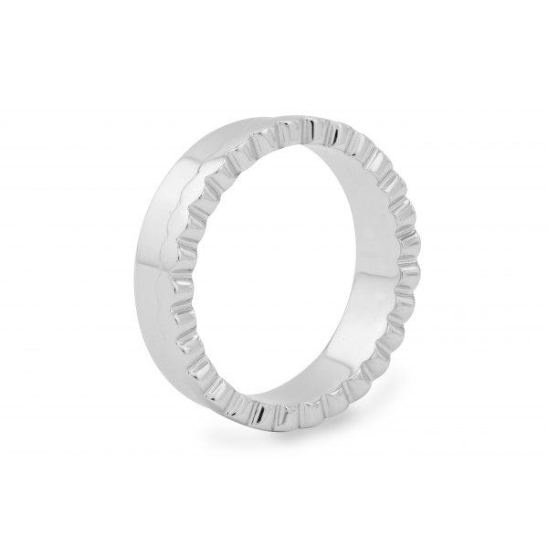 Geneva Channel Women's Wedding Ring 18K White Gold