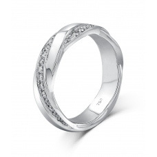 Koty Micro pave Diamond Wedding Ring 18K White Gold(Pair)