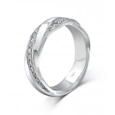 Koty Micropave Women's Wedding Ring 18K White Gold