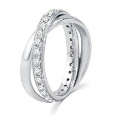 Jay'ne Micro Diamond Wedding Ring 18K White Gold(Pair)