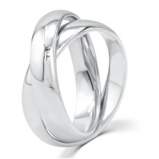 Jay'ne Micro Men's Wedding Ring in 18K White Gold