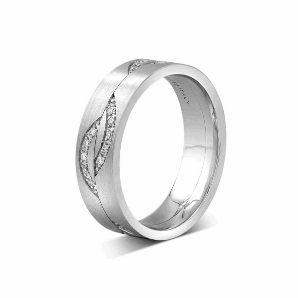 Roch Women's Diamond Wedding Ring 18k White Gold