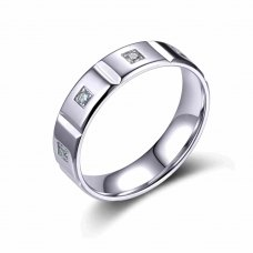 Octave Micro Prong men's Wedding Ring 18K White Gold