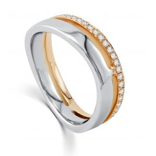 Odile Women's Wedding Ring 18k White and Rose Gold