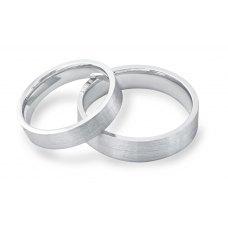 Eternally Yours Diamond Wedding Ring 18K White Gold(Pair)