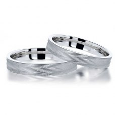 Moliz Wedding Ring 18K White Gold(Pair)